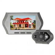 toptens 10,9cm LCD Timbre Puerta Mirilla 3x Zoom Eye Cámara de vídeo DVR visión