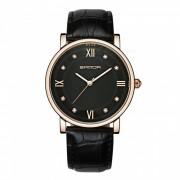 SANDA maquina japonesa nucleo? hombres elegantes reloj de cuarzo - negro? de oro