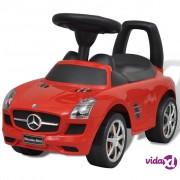 vidaXL Mercedes Benz autić na guranje, crveni