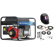 Pachet Mitsubishi Generator sudura WAGT 220 DC MSB R26 + Kit de Roti + Kit de Sudura +Masca de sudura cristale lichide