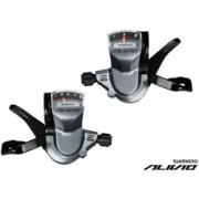 Manete De Schimbator Shimano New Alivio Sl-M4000 Set Stg+Drpt 3+9V Cu Afisaj Cu Cabluri Negre