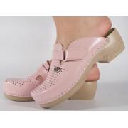 Saboti/Papuci roz deschis din piele naturala dama/dame/femei (cod 159)
