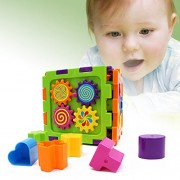 DIYurfeeling Baby Shape Sorter Infant Activity Toys - First Learning Blocks Puzzle Educational Gift - Toddler Shapes and Blocks