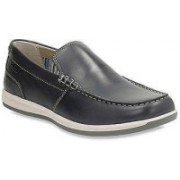 Clarks Fallston Step Navy Leather Outdoor For Men(Black)