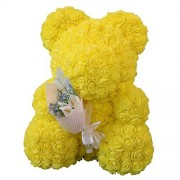 LOVIVER Oso de Flores Artificiales Decoraciones Románticas Boda Día de San Valentín (6 colores) Amarillo