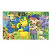 Happy GiftMart Fun Winnie The Pooh 60 pieces Wooden Jigsaw Puzzle Multicolor Cartoon Puzzle for Kids 22.5 cm x 13.8 cm