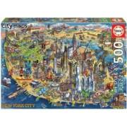 Puzzle Educa 500 piese Harta New York-ului