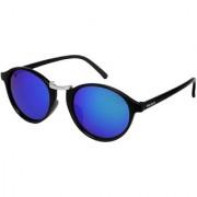 Walrus James Blue Mirror Color Unisex Oval Sunglass - WS-JAMES-200207