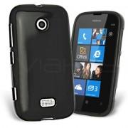 Nokia Lumia 510 Силиконов Калъф Черен + Протектор
