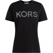 Michael Kors T shirt Michael Kors in cotone nero con logo frontale