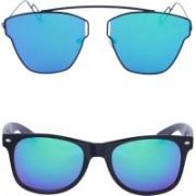 Amour-Propre Over-sized, Wayfarer Sunglasses(Multicolor)