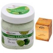 BIOCARE Green Lemon Face Scrub 500 ML Pink Root Golden Bleach Pack of 2