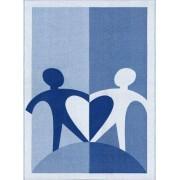 Världens Barn Filt 130x175 cm, ljusblå/blå