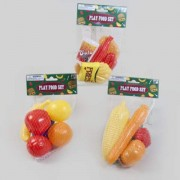 DollarItemDirect PLAY FOOD SET 3AST FRUIT/FAST FOOD/VEGGIE MESHBAG Case Pack of 36