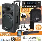 Ibiza Colunas Amplificadas Ibiza PORT12UHF-BT