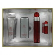 Perry Ellis 360 Red Eau De Toilette Spray + After Shave Balm + Deodorant Stick + Mini EDT Spray Gift Set 403256
