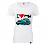 """TRICOU DAMA IMPRIMAT DTG """"I LOVE MY BMW"""""""