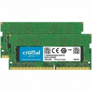 Crucial DRAM 32GB Kit 16GBx2 DDR4 2666 MT/s PC4-21300 CL19 DR x8 Unbuffered SODIMM 260pin, EAN 649528780157 CT2K16G4SFD8266