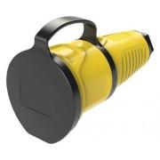 Cupla pentru stecher CP PCE 16A galbena, cu capac, pentru exterior IP54