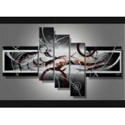 EVA JEKINS Tableaux design rouge gris Magnifik