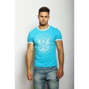 Epatage Мужская футболка с принтом бирюзового цвета Epatag RT080260m-EP