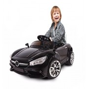 Battery Operated Kid Ride On Car With Remote Controlled (Optional Controller) (Black)