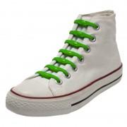 Shoeps 14x Shoeps elastische veters groen voor kinderen/volwassenen