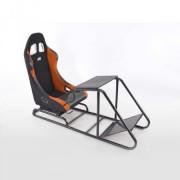 FK-Automotive siège de jeu pour PC et consoles de jeux tissu noir / orange