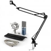 Auna MIC-900BL, USB микрофонен комплект V3 кондензаторен микрофон +стойка за микрофон, син цвя (60001951-V3)