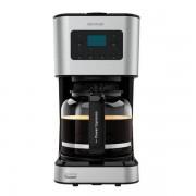 Cafetiera cu Filtru, 950W, 1.5 L, Cana Sticla, Timmer Programabil, mentine cafeaua fierbinte, Argintiu Negru