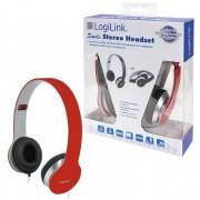 Casti Stereo LogiLink HS0035, Microfon (Rosu)