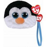 Gentuta De Mana Din Plus TY Pinguinul Waddles, 10 cm