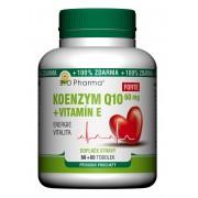 BIO Pharma Koenzym Q10 Forte 60mg + Vitamín E 60+60 tobolek