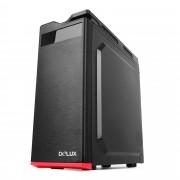 Carcasa Delux DW701T, ATX 500W, Black - Red