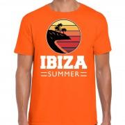 Bellatio Decorations Ibiza zomer t-shirt / shirt Ibiza summer oranje voor heren