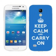 Husa Samsung Galaxy S4 Mini i9190 i9195 Silicon Gel Tpu Model Keep Calm Carry On