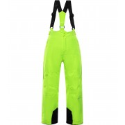 ALPINE PRO ANIKO 3 Dětské lyžařské kalhoty KPAP168530 reflexní žlutá 104-110