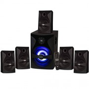 Acoustic Audio by Goldwood Acoustic Audio Bluetooth 5.1 Speaker System with Sub Light and FM Home Theater 6 Speaker Set