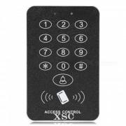 Boton XSC que presiona el sistema de control de acceso a la puerta digital -negro + plata