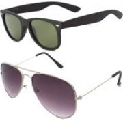 Fash-On India Aviator Sunglasses(Green, Multicolor)
