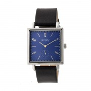 Simplify The 5000 Leather-Band Watch - Silver/Blue/Black SIM5002