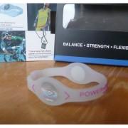 Balanční náramek s hologramem Power Balance - průhledný-růžový