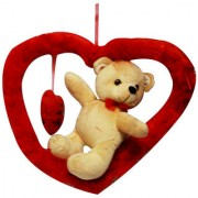 DealBindaas Romy Teddy Valentine Soft Toy Brown
