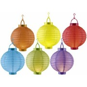 Orange85 Grote Gekleurde Lampionnen 6 stuks