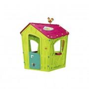 Casuta de joaca Magic Playhouse, din plastic, pentru copii, cu ferestre si usa, pentru joaca in gradina sau interior