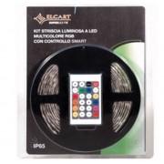 Elcart Superlight Kit Striscia Led Multicolore Rgb 150 Led Controller 156 Programmi 5 Metri