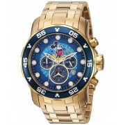 Invicta Watches Invicta Men's 'Disney Limited Edition' Quartz and Stainless Steel Casual Watch ColorGold-Toned (Model 23766) BlueGold