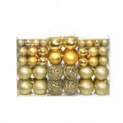 Sonata Комплект коледни топки от 100 части, 6 см, злато
