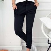 Pantalones Slim Fit De Estilo Ocio Para Muejer - Negro