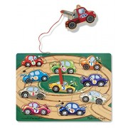 Melissa & Doug Deluxe Magnetic Towing Game (10 Piece),Multicolor